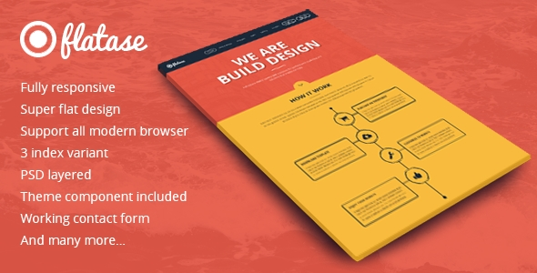 Download Flates Responsive Landing Page Template