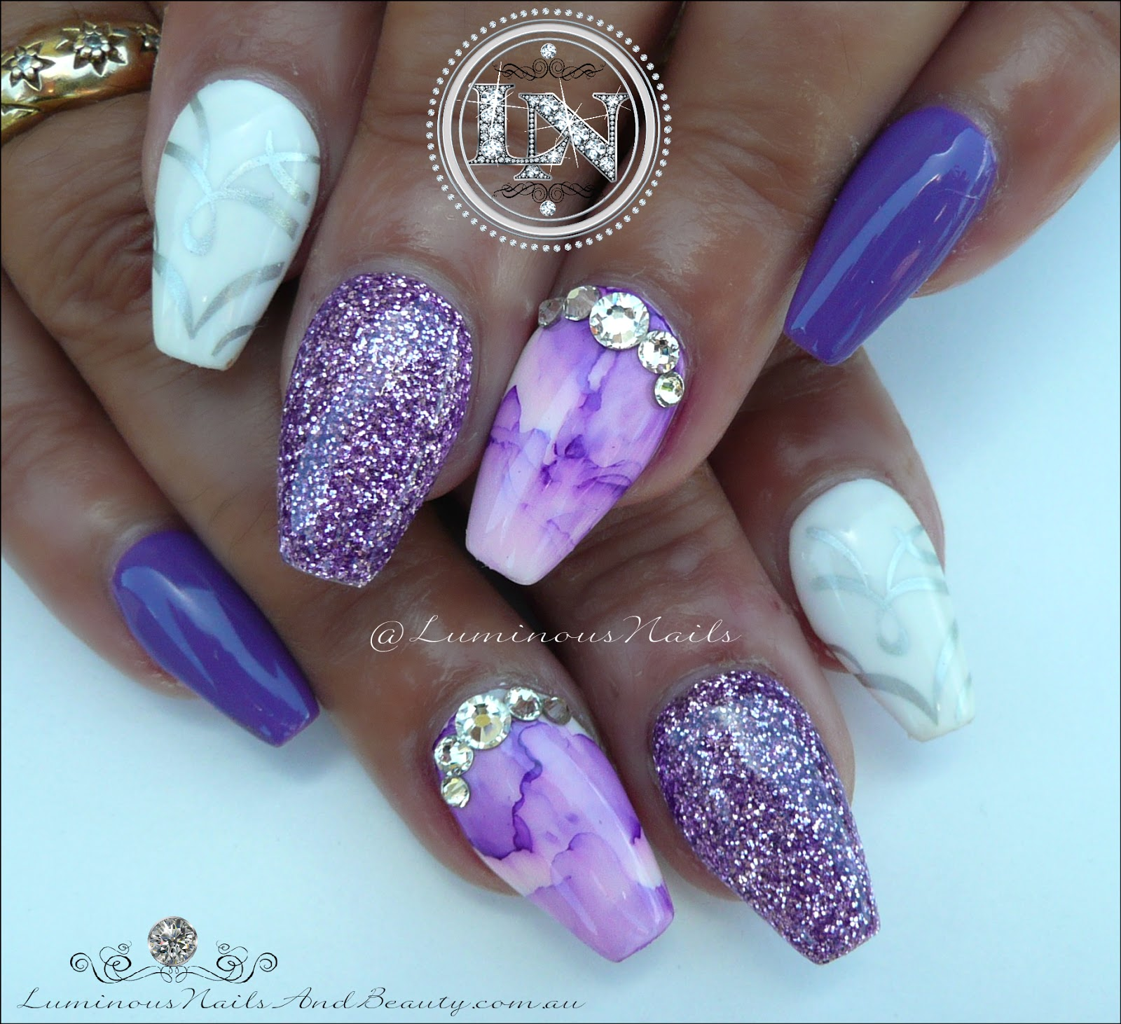 Pink And Purple Water Marble Design Nail Art Tutorial Youtube with regard to Acrylic Nail Designs Lavender