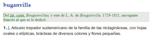 Buganvilla - definición