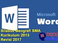 Silabus Geografi SMA Kurikulum 2013 Revisi 2017