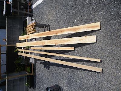 棚 材料 杉の荒材