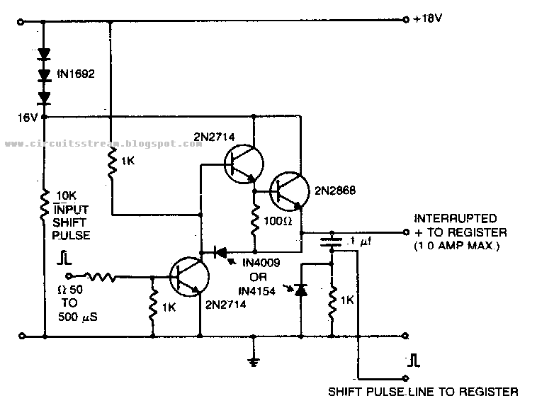 Shift Register Driver Power Supply Circuit Diagram