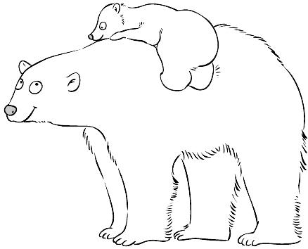 Educatia conteaza animape salbatice polare - Orsi polari pagine da colorare ...