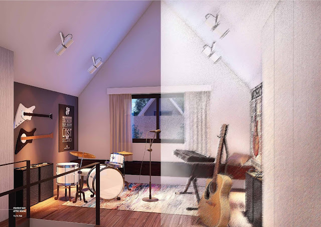Attic Room (lantai atas)
