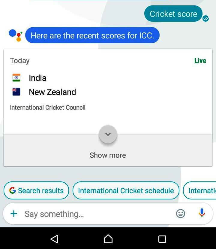 cricket score allo