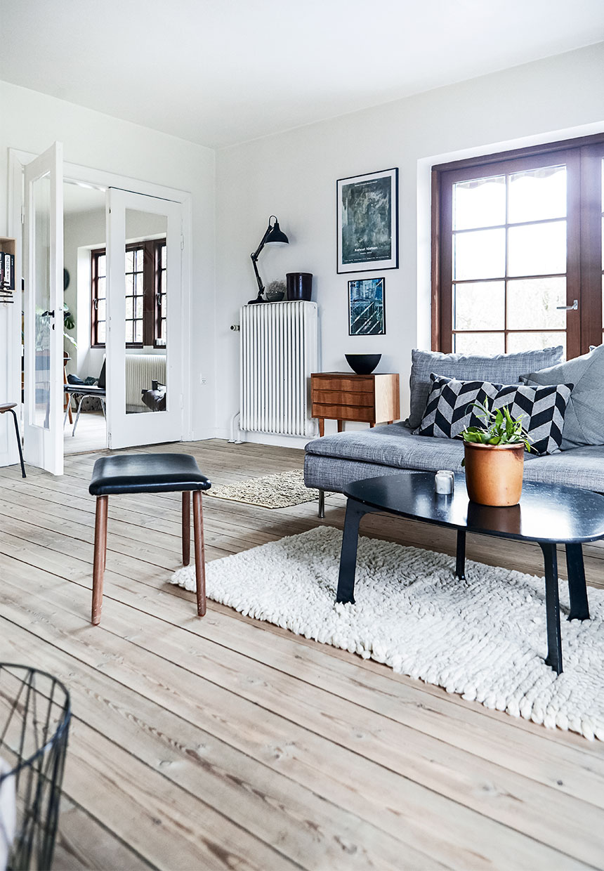 wall art, gray sofa, monstera plant, scandinavian interior, mid century modern design, danish villa, home decor