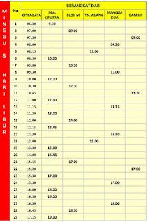 Jadwal Keberangkatan Bus Trans Citra Raya