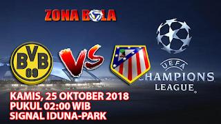 Prediksi Bola Borussia Dortmund vs Atletico Madrid 25 Oktober 2018