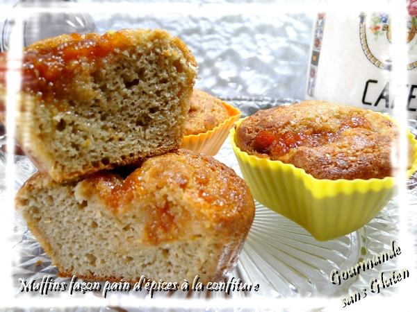 Muffins façon pain d'épices à la confiture