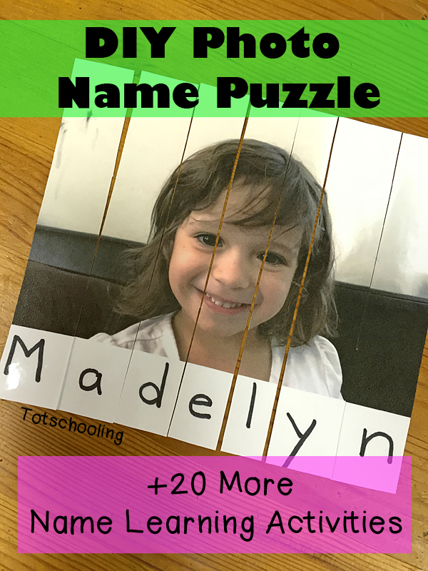Photo Name Puzzle