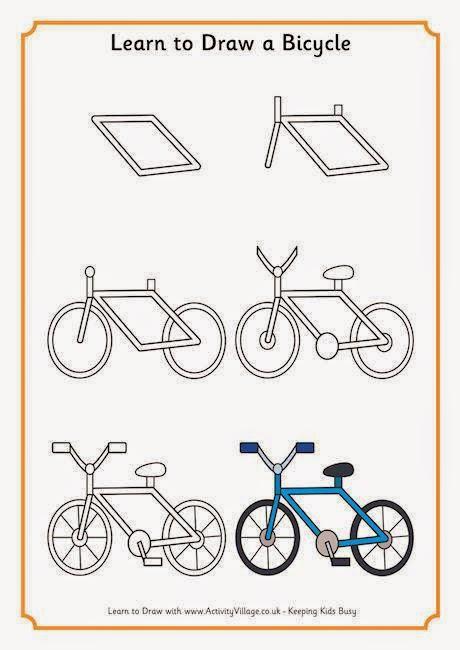 Cara Menggambar Sepeda : menggambar, sepeda, Kegiatan, Kreativitas, Untuk, Anak-anak: