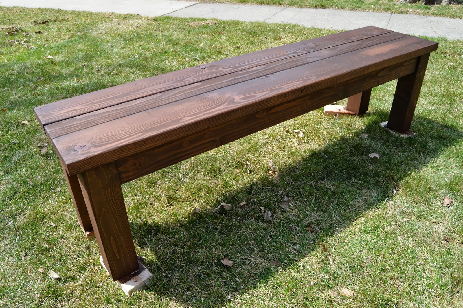 Simple Wooden Bench Designs ~ Kruse s workshop simple indoor outdoor rustic bench plan