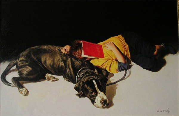 Agim Sulaj 1960 | Albanian Hyperrealist painter and Illustrator