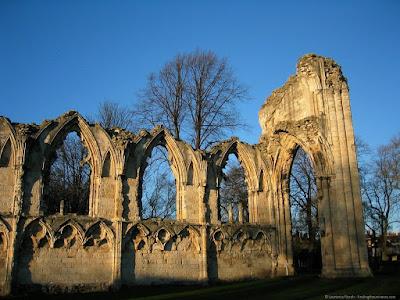 York St Marys Abbey ruin church monastery