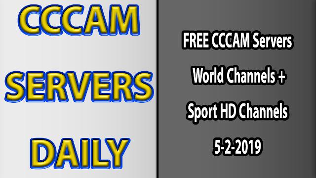 FREE CCCAM Servers World Channels +Sport HD Channels 5-2-2019