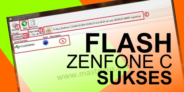 Flash Asus Zenfone C Succeeded