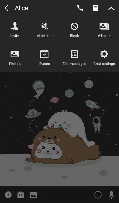 Seal Cute On Space (Bear Costume)