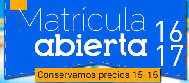 ¡Matrícula 2016-2017 abierta!