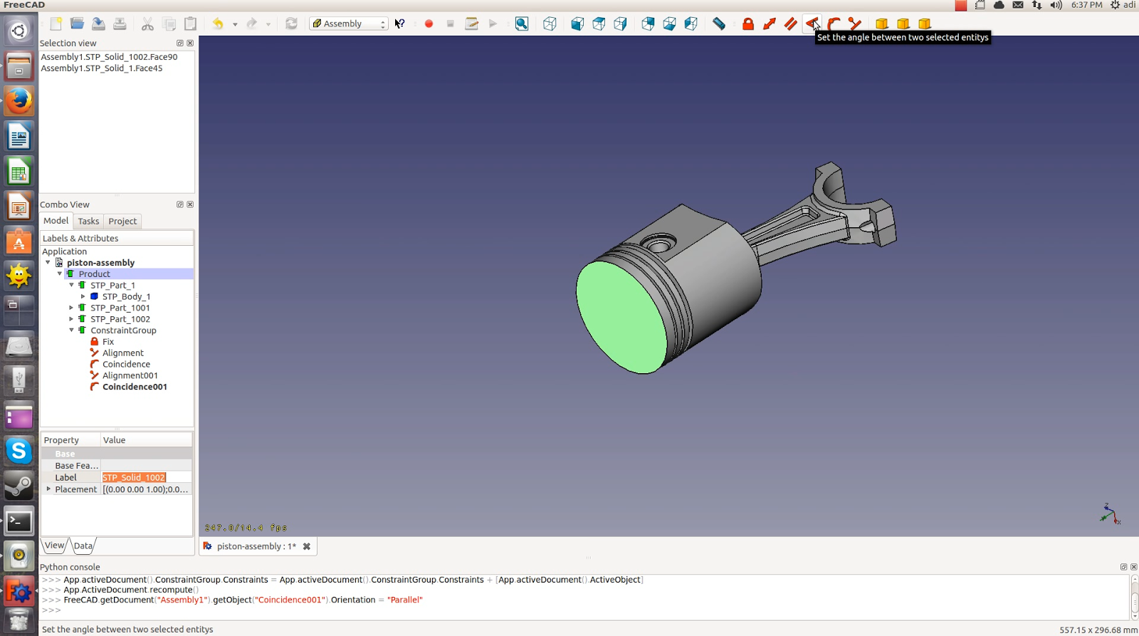 FreeCAD tutorial: How to test the assembly module [updated]