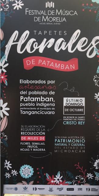 Tapetes de Patamban en el Festival de Música de Morelia