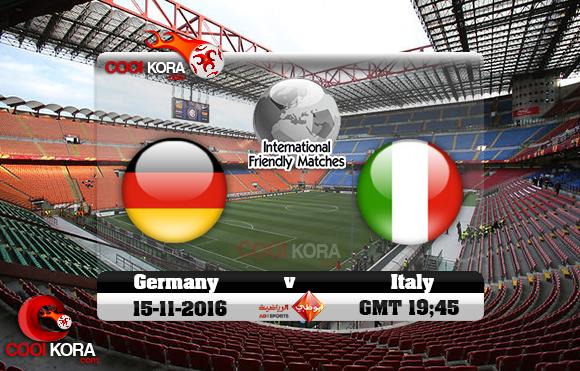 مشاهدة مباراة إيطاليا وألمانيا اليوم 15-11-2016 مباراة ودية