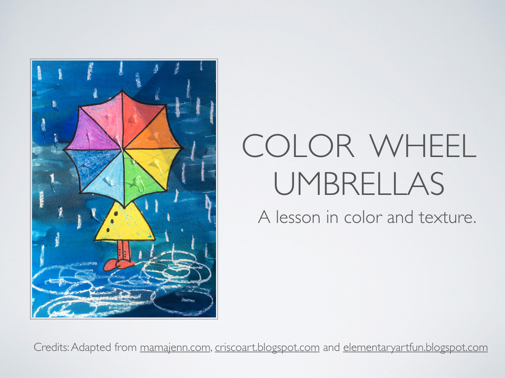 Art A Baloo Crew Color Wheel Umbrellas A Lesson In Color