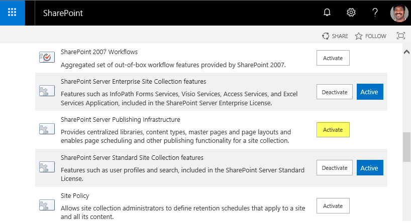 sharepoint online powershell check if feature is activated
