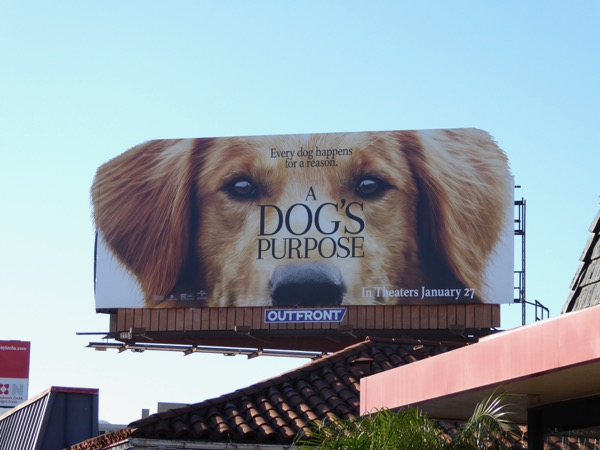 Dogs Purpose cutout billboard