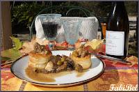 Ma recette d'automne : veau aux olives vertes et aux champignons.