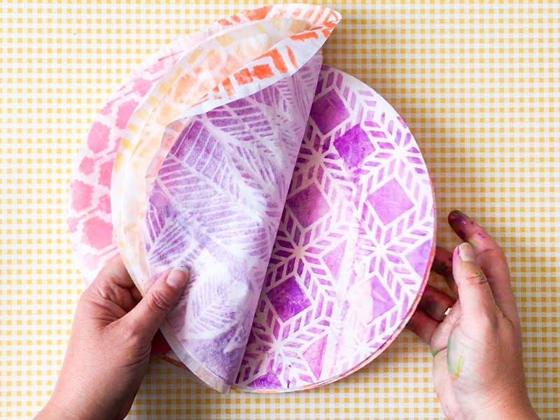 printing with gelli arts gelli arts printed coffee filter flowers