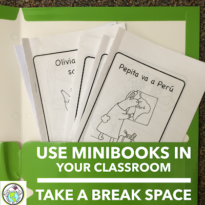 How to Make a Take A Break Space in your Elementary Spanish Classroom