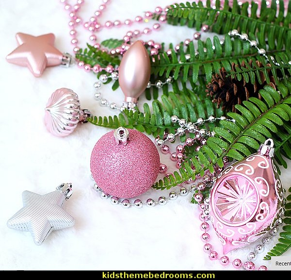 Pink Christmas Balls Baubles Cristmas Decoration Tree Ornaments Hanging Ball Craft Supplies