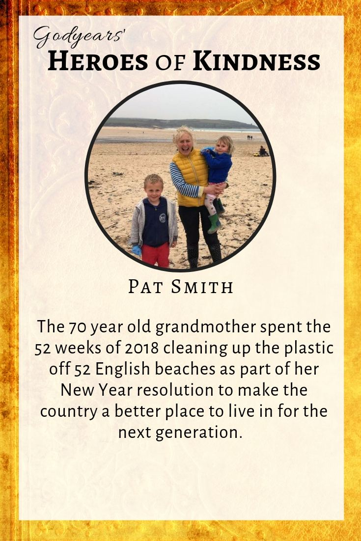 70 year old Pat Smith is truly making the extra effort to provide the next generation a healthy world to live in.