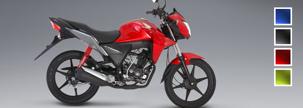 Honda CB110: Color Rojo Siena