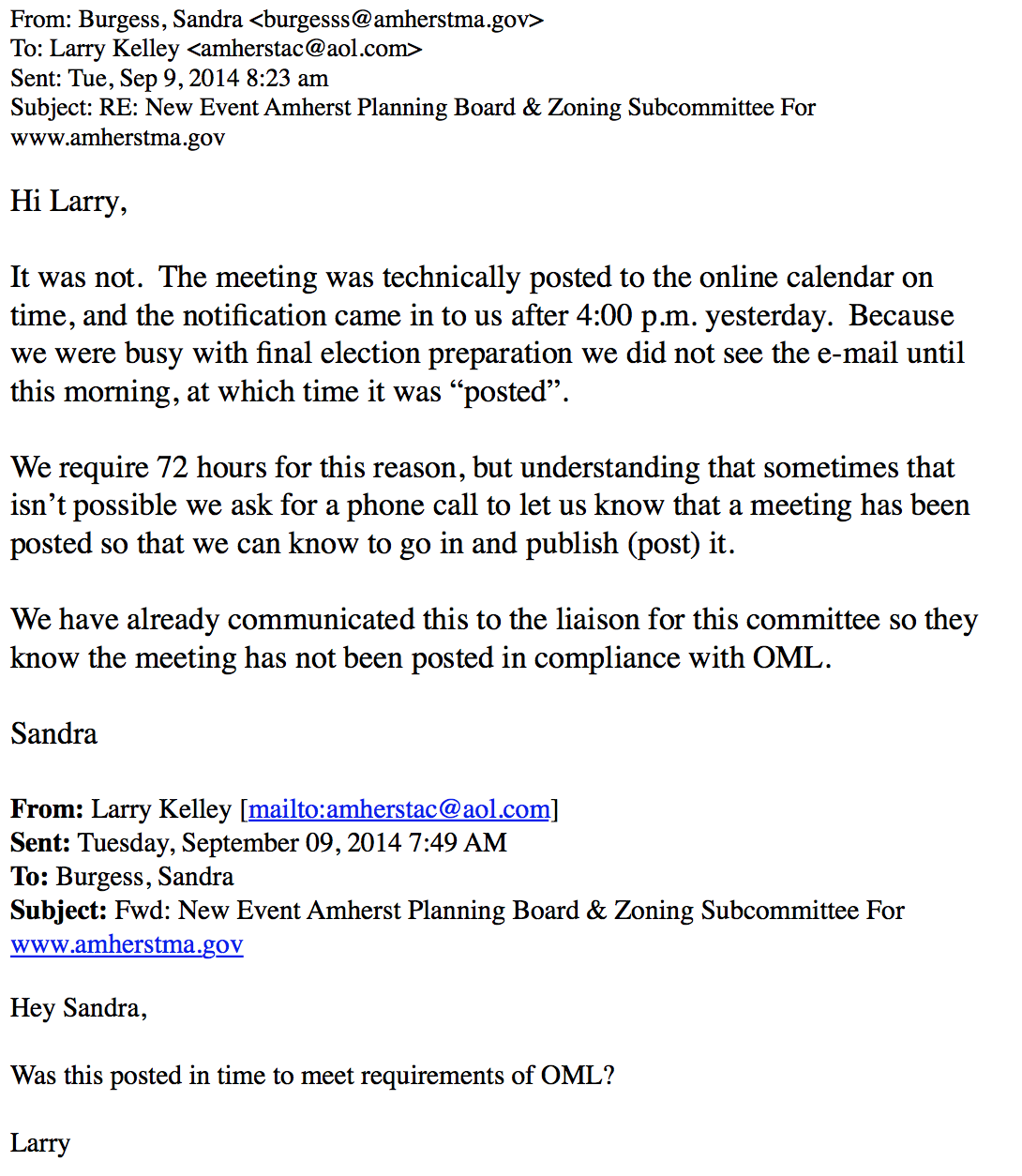 Only in The Republic of Amherst: Planning Board