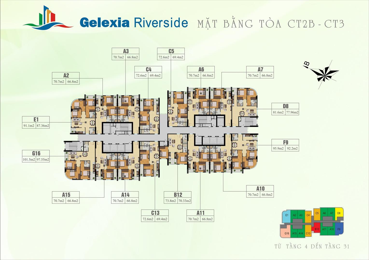 Mặt bằng Gelexia Riverside