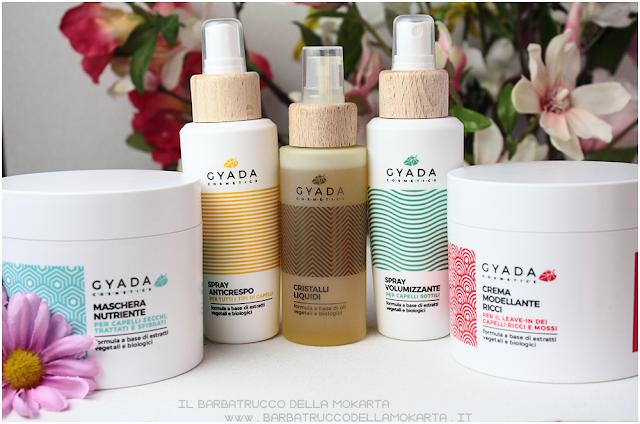 review gyada cosmetics, vegan bio, capelli hair routine
