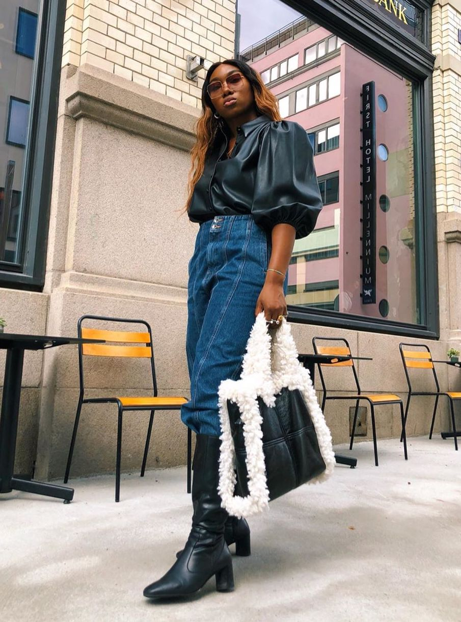 These Are the Best Baggy Jeans to Pair With Knee-High Boots