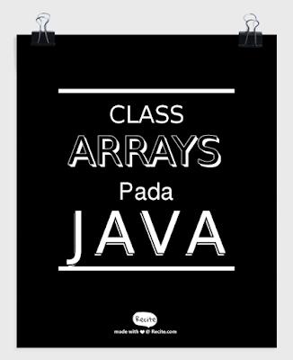 class arrays java