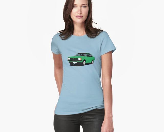 Green Opel Kadett C Coupé t-shirt