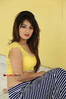 Cute Telugu Actress Shunaya Solanki High Definition Spicy Pos in Yellow Top and Skirt  0402.JPG