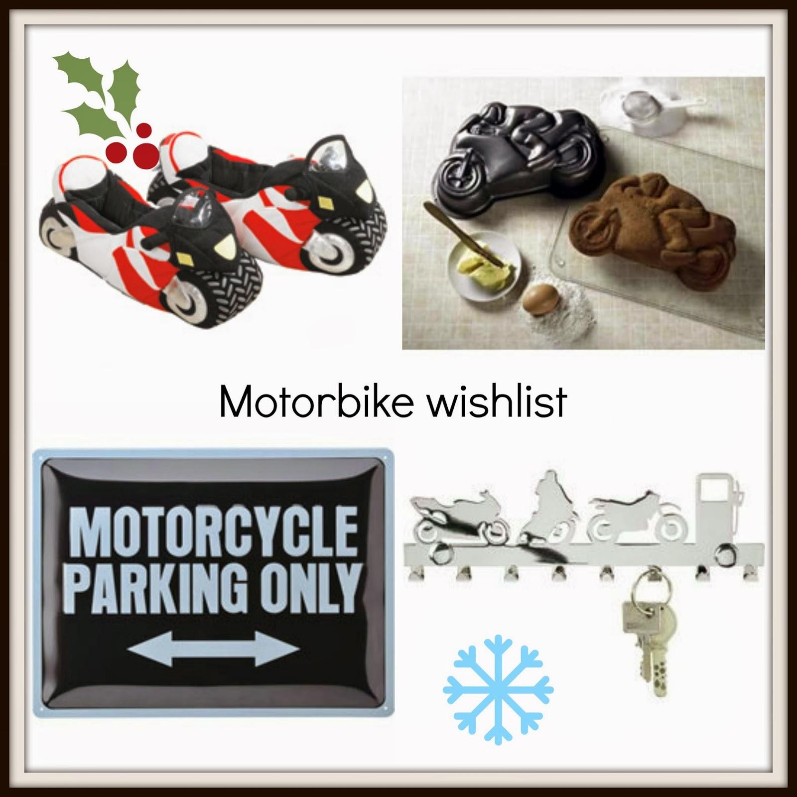 at number 18: Motorbike gift wishlist