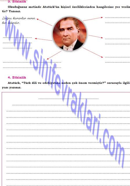 Dörtel Yayınları 8. Sınıf Türkçe Çalışma Kitabı Cevapları Sayfa 49