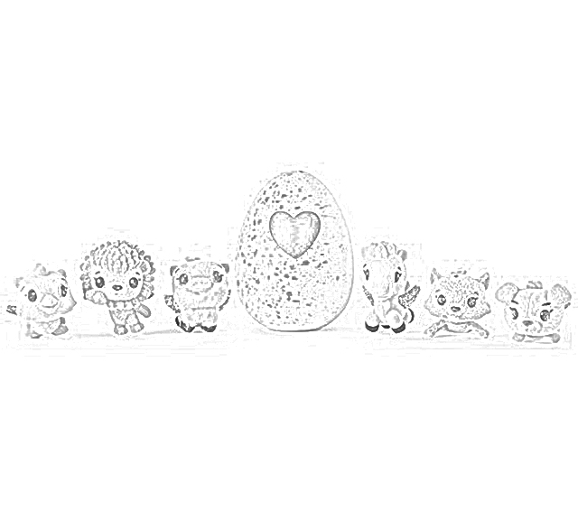 The Holiday Site: Hachimals For The Holidays! Coloring Pages Free And  Downloadable