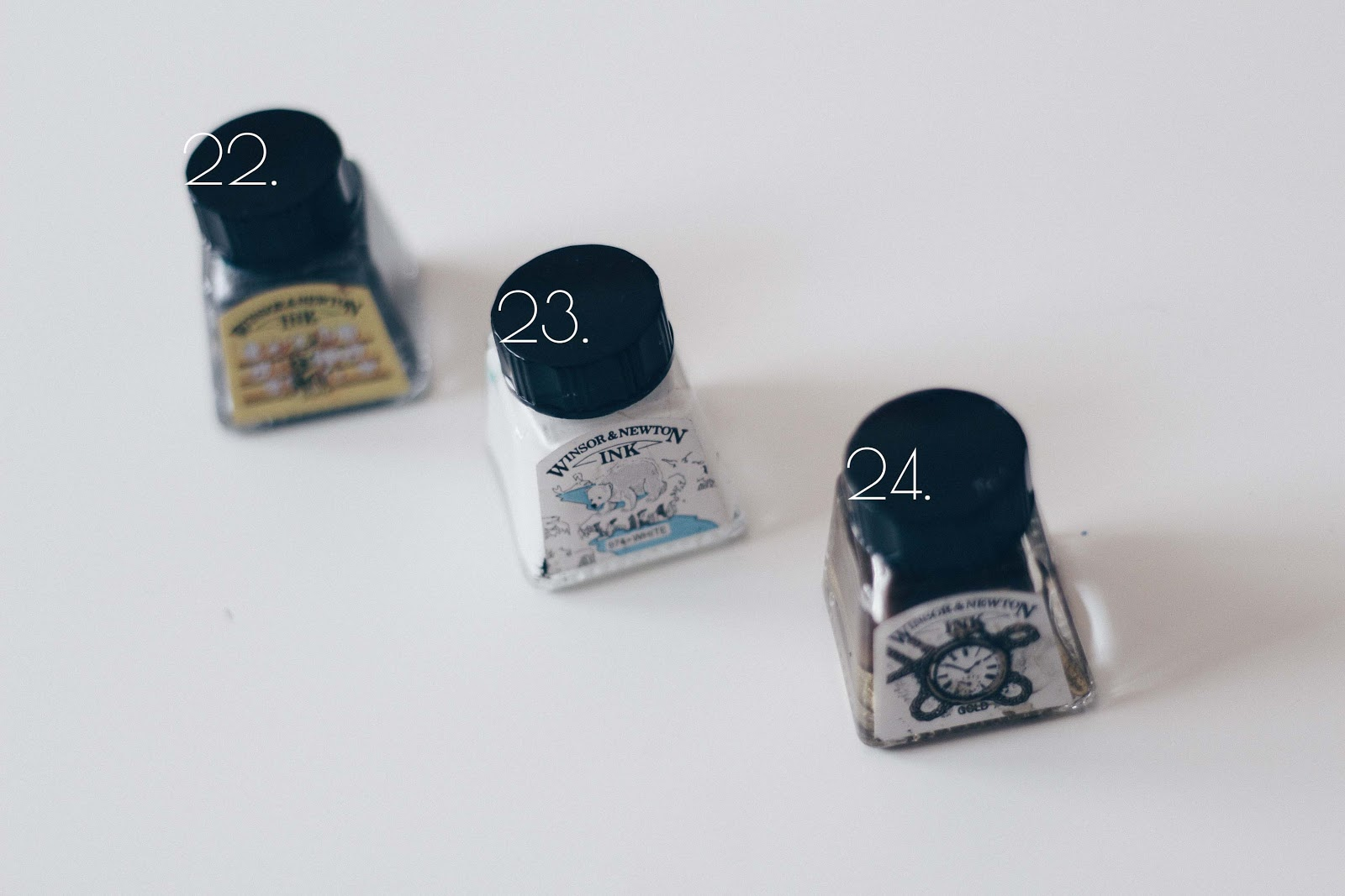 gold and silver calligraphy inks