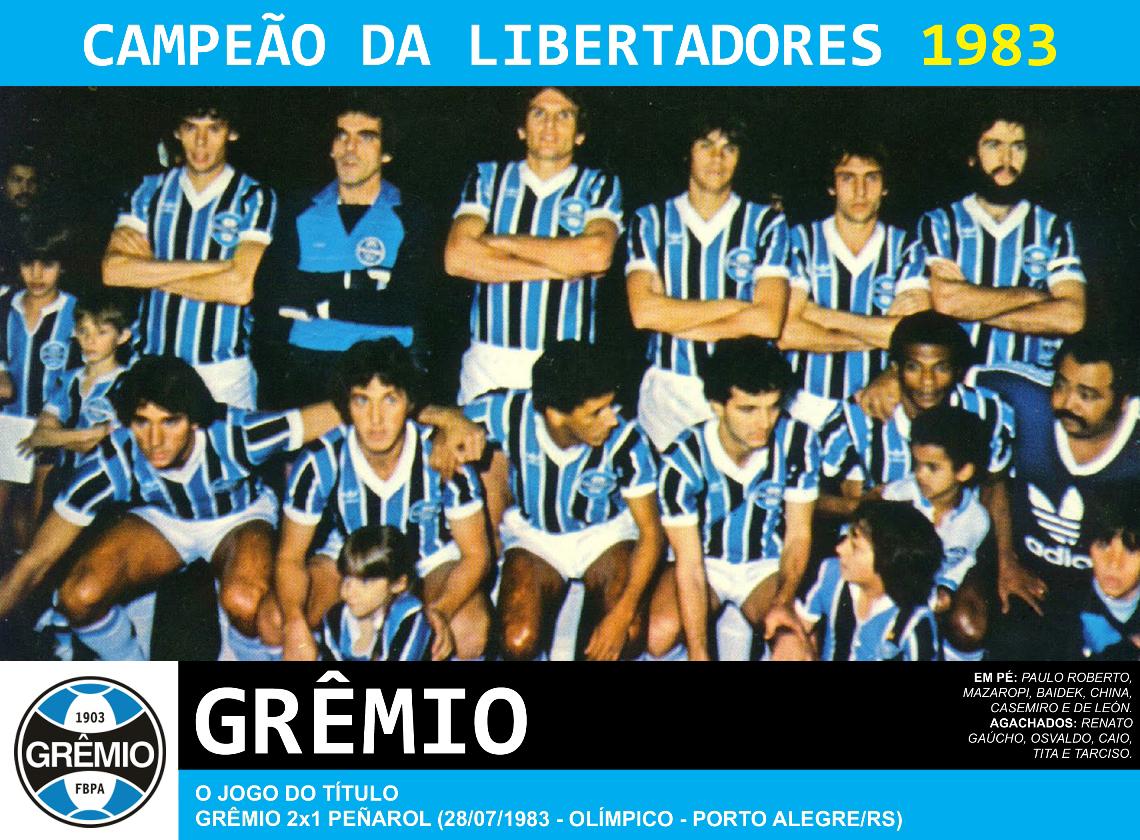 38d1631b98 O Grêmio dava início a sua tradição copeira com o título da Libertadores de  1983. Depois