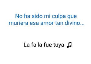 Diomedes Díaz La Falla Fue Tuya significado de la canción.