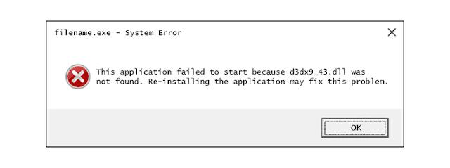 كيفية إصلاح الخطأ D3dx9_43.dll Not Found or Missing