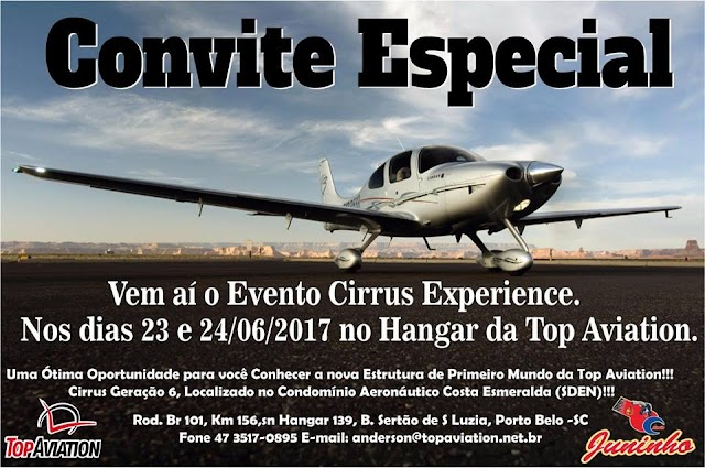 Evento Cirrus Experience no Hangar da Top Aviation