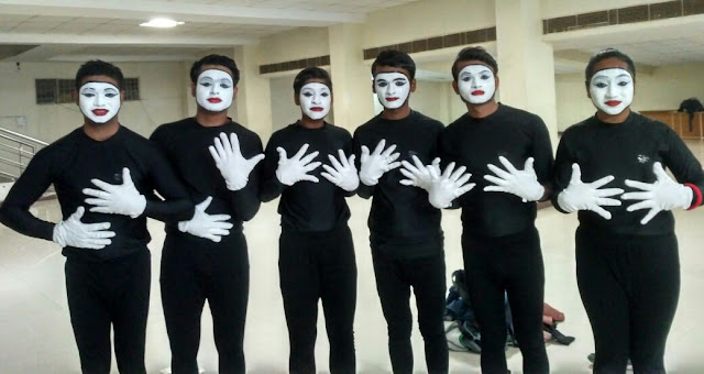 YMCA University team's best presentation of the Mime in Inter-University Competition